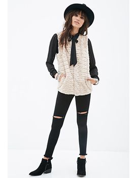 boxy-faux-fur-vest by forever-21