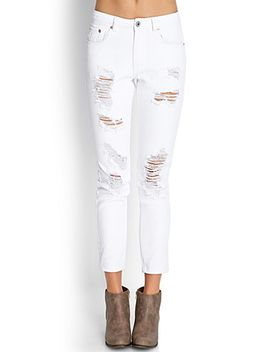 distressed-boyfriend-jeans by forever-21