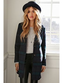 wool-blend-plaid-overcoat by forever-21