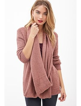 draped-attached-scarf-cardigan by forever-21