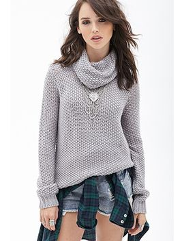 open-knit-cowl-neck-sweater by forever-21