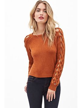 cutout-cable-sweater by forever-21