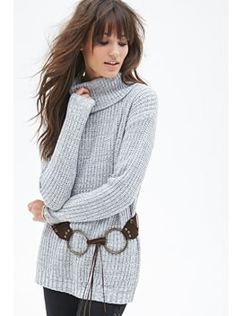 waffle-knit-turtleneck-sweater by forever-21