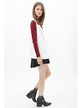 cropped-mock-neck-sweater by forever-21