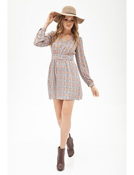 southwestern-print-a-line-dress by forever-21
