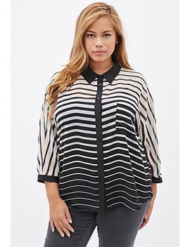 striped-chiffon-blouse by forever-21