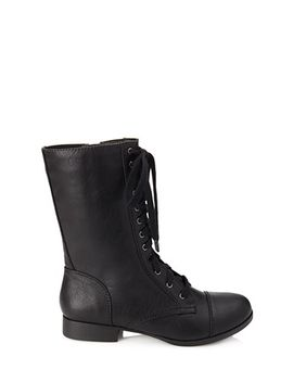 faux-leather-lace-up-boots by forever-21