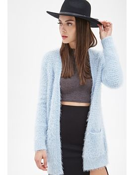 fuzzy-knit-cardigan by forever-21
