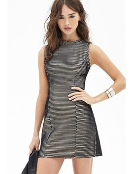 textured-mesh-shift-dress by forever-21