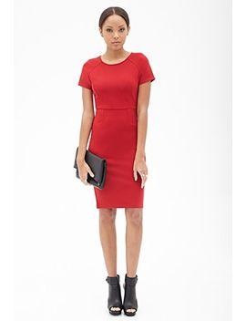 raglan-sleeved-knit-dress by forever-21
