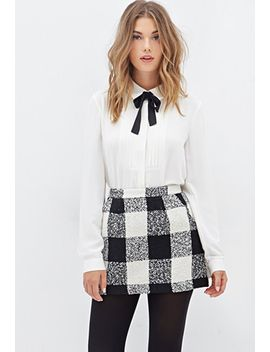 plaid-bouclé-mini-skirt by forever-21