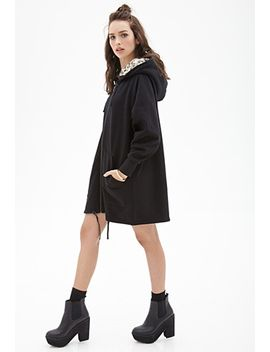 faux-fur-longline-hoodie by forever-21