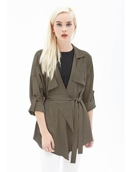 slouchy-belted-trench-coat by forever-21