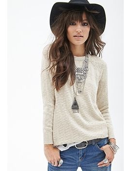 metallic-crew-neck-sweater by forever-21