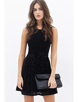 velveteen-burnout-bow-dress by forever-21