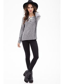 oversized-marled-top by forever-21