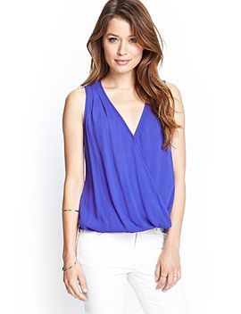 semi-sheer-surplice-top by forever-21
