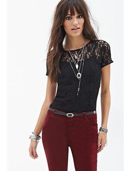 floral-lace-tee by forever-21