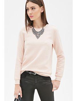 geo-textured-sweatshirt by forever-21