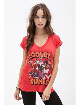 looney-tunes-v-neck-tee by forever-21