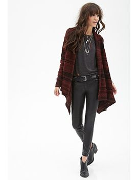 marled-tribal-patterned-cardigan by forever-21