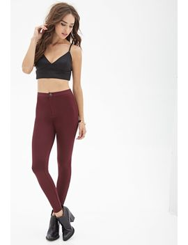 zippered-skinny-pants by forever-21