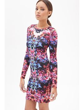 kaleidoscopic-floral-dress by forever-21
