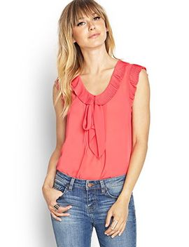 pleated-ruffle-tee by forever-21