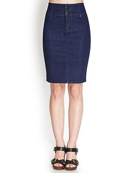 high-waisted-denim-skirt by forever-21