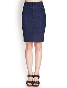 high-waisted-denim-skirt by forever-21