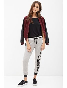 rugby-striped-tomboy-sweatpants by forever-21
