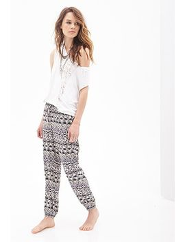 tribal-print-woven-joggers by forever-21