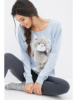 teddy-bear-pj-sweatshirt by forever-21