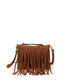 faux-suede-fringed-crossbody by forever-21