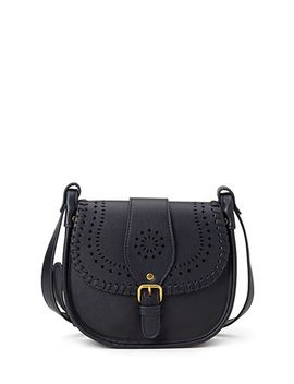 perforated-faux-leather-crossbody by forever-21