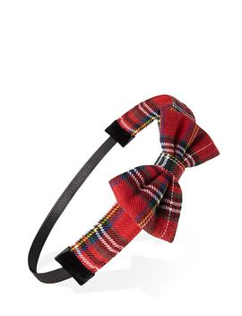 tartan-bow-headband by forever-21