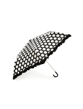 dotted-ruffle-travel-umbrella by forever-21