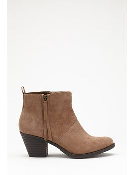 zippered-faux-suede-booties by forever-21