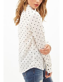 heart-print-top by forever-21