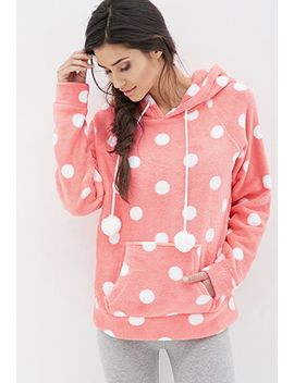 plush-polka-dot-pj-hoodie by forever-21