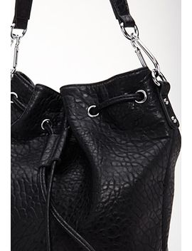 faux-leather-drawstring-backpack by forever-21