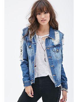 distressed-denim-jacket by forever-21