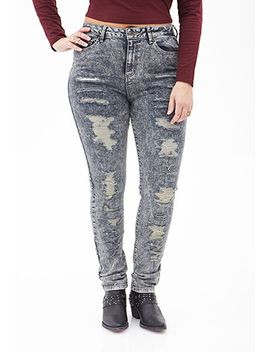 high-waisted-mineral-wash-jeans by forever-21
