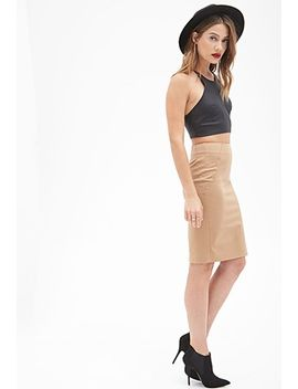 woven-pencil-skirt by forever-21