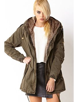 faux-fur-lined-parka by forever-21