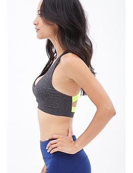 medium-impact---contrast-back-sports-bra by forever-21