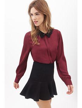 crochet-collar-blouse by forever-21