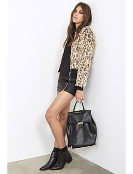 luxe-faux-leopard-fur-bomber by forever-21