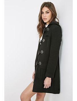 hooded-longline-toggle-coat by forever-21