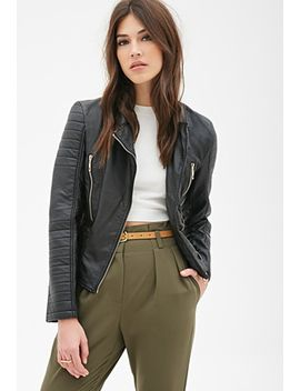 quilted-faux-leather-bomber by forever-21